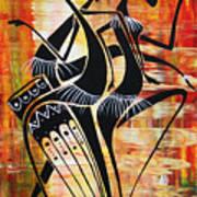 Makonde And Mask 5 Art Print