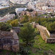 Malaga Fortifications Art Print