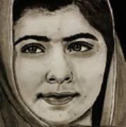 Malala Yousafzai- Teen Hero Art Print