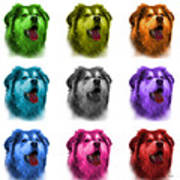 Malamute Dog Art - 6536 - Wb - M Art Print
