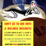 Malaria Mosquito Art Print by War Is Hell Store