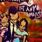 Malcolm X Fatherhood 2 Art Print by Tony B Conscious