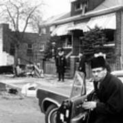 Malcolm X, Returns Home After His House Print by Everett