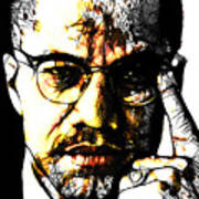Malcolm X Art Print by The DigArtisT