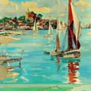 Maldon, England, Sailing Boats Art Print