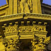 Male Statue Palace Of Fine Arts Art Print