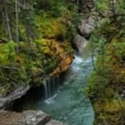 Maligne Canyon Falls Jasper National Park Art Print
