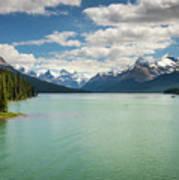 Maligne Lake In Jasper National Park Art Print