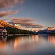 Maligne Lake Sunrise Art Print