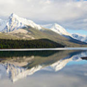 Malingne Lake Reflection, Jasper National Park  Art Print