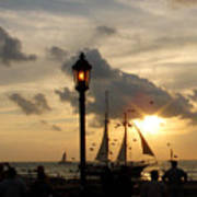 Mallory Square Key West Art Print