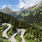 Maloja Pass In Graubunden, Switzerland Art Print