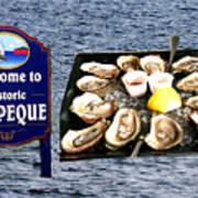 Malpeque Oyster Poster Art Print