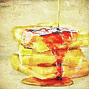 Malt Waffles Art Print
