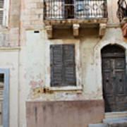 Maltese House On A Steep Street Art Print
