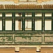Maltese Wooden Enclosed Balcony And Windows Art Print