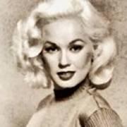 Mamie Van Doren, Vintage Actress And Pinup Art Print