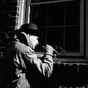 Man Breaking Into Building, C.1950s Art Print
