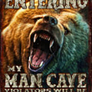Man Cave Art Print by JQ Licensing