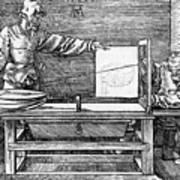 Man Drawing A Lute 1523 Art Print