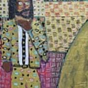 Man In A Golden Suit Art Print