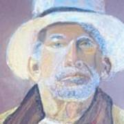 Man In A Straw Hat Art Print