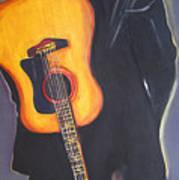 Man In Black's Back Art Print by Eric Dee