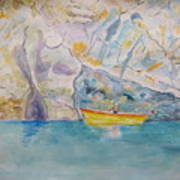Man In Boat, Lerici Art Print