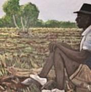 Man In Field Burkina Faso Series Art Print