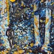 Man In Moonshadow Art Print