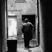 Man In Paris Alley Art Print