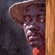 Man In Straw Hat Art Print
