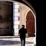 Man In The Archway Art Print
