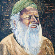 Man In The Green Turban Art Print