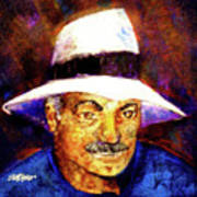 Man In The Panama Hat Art Print
