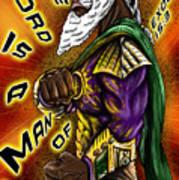 Man Of War Poster Design Art Print