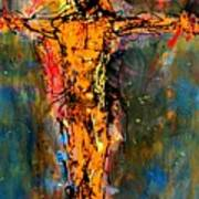 Man On A Cross Art Print