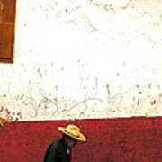 Man On A Patzcuaro Street Art Print