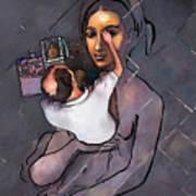 Man Painting Woman Art Print