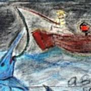 Man Vs. Marlin Art Print