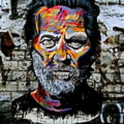 Man With Colourful Face Art Print