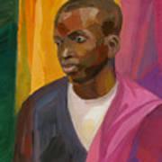 Man With Crimson Drapery Art Print
