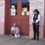 Man With His Dog Re-enactor Birdcage Theater Tombstone Arizona 2004 Art Print