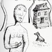 Man With Puppy  Art Print