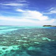 Mana Island Waters Art Print