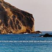 Manana Rabbit Island Quote Art Print