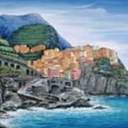 Manarola Cinque Terre Italy Art Print