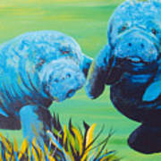 Manatee Love Art Print