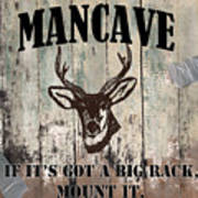Mancave Deer Rack Art Print