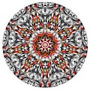 Mandala - Amulet 873 For Those Born In ..... Art Print